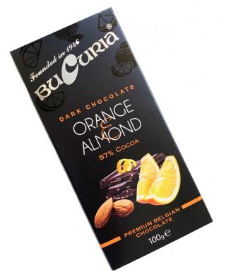 CIOC. BUCURIA cu portocale și migdale (57% cacao) 1/100