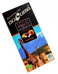 CIOC. BUCURIA ORGANIC cu caise și alune (57% cacao) 1/100